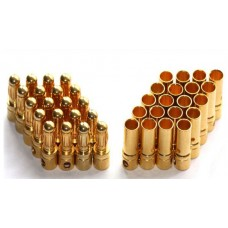 Connector - Bullet Gold 3.5mm Connectors